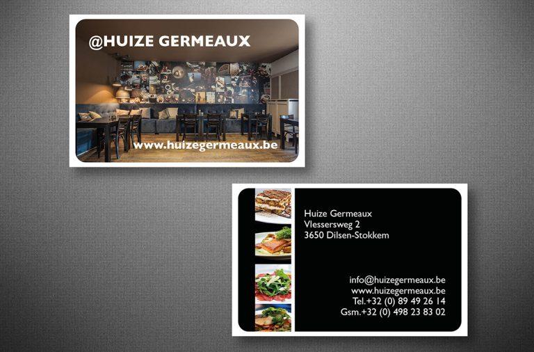 Naamkaartje Huize germeaux